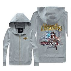 Ahri cool sweatshirts League of Legends zipper hoodies for men