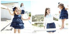 matching mother and daughter denim skirt and baby bubble shortie by my mini & me #fashion #kids #family #memorable #moments #shorts #dress