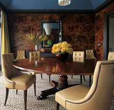 A stunning dining room by Traditional Home New Trad Designer Andrew Howard who encourages fresh interpretations of classic design.