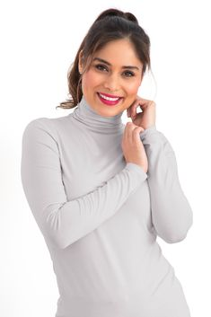 Silky Roll Neck in Dove Grey Dove Grey, Roll Neck, Rolls, Turtle Neck, Colours, Tees, Sweaters, Fashion, Moda