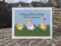 Chirpy Chirp Chirp stamp set from Lawn Fawn. Card by Mocha Frap Scrapper