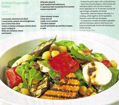 Grilled Vegetable Salad (magazine scan)