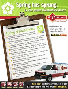 Spring Home Maintenance Checklist | Free, Printable Inspection List