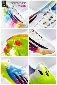 The signature Messi adizero F50 soccer cleats.
