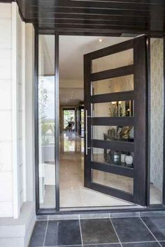 Modern Interior Doors Ideas Choosing Modern Interior Doors for Your Home Modern Interior Doors Ideas. Interior doors are as important as exterior doors. Within a home or a building, interior doors … Contemporary Front Doors, Modern Front Door, House Front Door, Front Door Design, Glass Front Door, House Doors, House Entrance, Entrance Doors, Glass Entry Doors