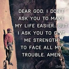 Prayer to God for strength to face all trouble
