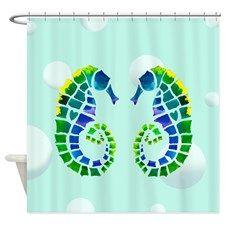 Gold Alligator Shower Curtain