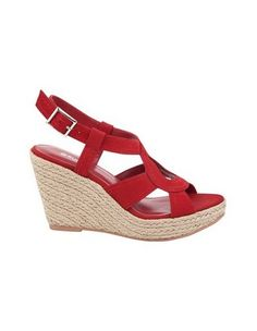 SANDLER 'Laguna' red wedge sandal