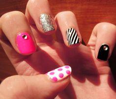 Disco fever nail art