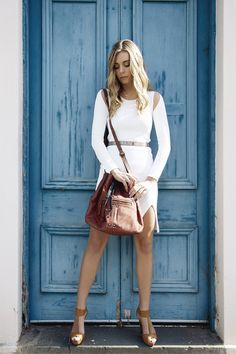 Summer night out outfit featuring the Elsie bag. #cadelleleather #summerfashion #leatherbag