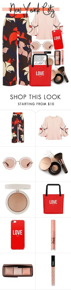 """""""Always loved the City"""" by short-stuff25 ❤ liked on Polyvore featuring Delpozo, Roksanda, Gucci, Nude by Nature, Topshop and Hourglass Cosmetics"""