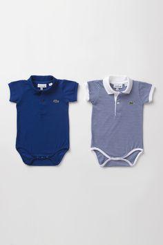 Lacoste Boy's Pique Polo Onesie Gift Set : Baby