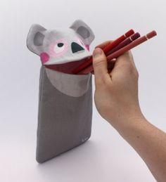 Stiftemäppchen Pina Koala by JulicaDesign / Geschenk zur Einschulung, Schulanfang