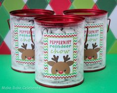 MBC: Peppermint reindeer chow - with FREE printable! Christmas Sprinkles, Christmas Cupcakes, Christmas Goodies, Christmas Treats, Christmas Stuff, Christmas Morning, Christmas Holidays, Merry Christmas, Christmas Information