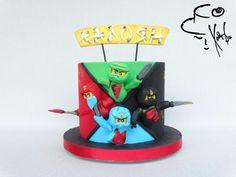 Ninjago cake – I hope that you like my design :) Bolo Ninjago, Bolo Lego, Ninjago Party, Lego Cake, Boy Birthday Parties, Birthday Cake, Ninja Cake, Character Cakes, Savoury Cake