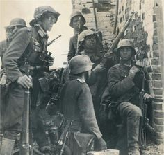 World War II German Army soldiers.