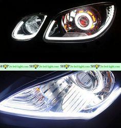 Гибкие светодиодные дневные ходовые огни №7 за счёт гибкости, возможности придать любую длины могут быть установлены в фару любого автомобиля #дневныеХодовыеОгни #дхо #drl