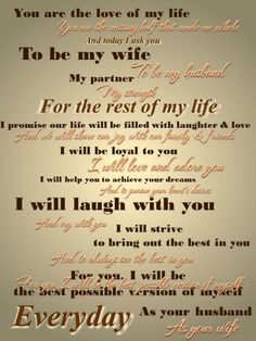 Wedding Vows If you are getting married and you are looking for something a little different to do for your vows, then you might be interested in writing your own vows. Writing your own traditional wedding vows is a great way to make your wedding more personal and unique. Some people feel like using the(...)