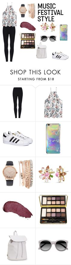 """""""Festival"""" by mgonzalex on Polyvore featuring adidas, Jessica Carlyle, Betsey Johnson, Kat Von D, Bella Il Fiore and Aéropostale"""