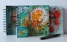 great art journal covers via  Scrapmanufaktur: ScrapArtZine