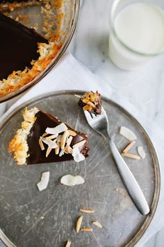 Gluten Free 5 Ingredient Chocolate Coconut Pie - Say Yes to Hoboken