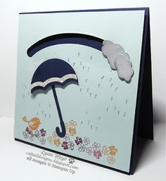 Cattail Designs: Stampin Up spinner card for class Weather Together bundle, Sliding Star framelits