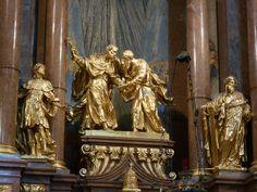 Giuseppe Galli-Bibiena ad. - hl. oltář v Melku (detail)