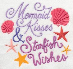 Machine Embroidery Designs at Embroidery Library   Mermaid Kisses Starfish Wishes