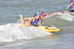 Having fun riding the waves at competition!