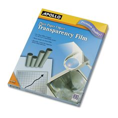 Apollo 100C Transparency Film Letter Clear 100 ct