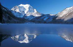 austria landscape | austria landscape: Vorderer Langbathsee Brunnkogel Winter 2