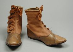 Pair of Child's Boots. United States, circa 1905. Swett and Brown, Philadelphia, Pennsylvania | LACMA Collections