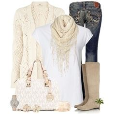 Casual boots outfit~and mk bag