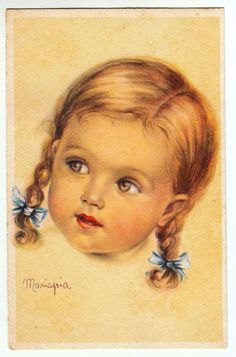 VOLTO DI BIMBA - Illustrata da Mariapia - 1944 - Viaggiata | eBay