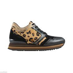 APEPAZZA scarpe donna sneaker RSD01 LEO-PONY NERO camoscio b196d589530