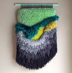 Woven wall hanging / Furry Seascape n. 5, by jujujust, on Etsy