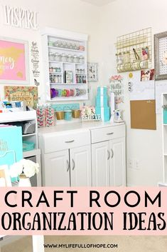 Craft Room Organization Ideas that are budget friendly and easy to keep all of your crafting supplies together.  Tips and Tricks to get your crafting supplies together once and for all.  #craftroom #craftorganization #craftroomstorage #organizationideas #organization