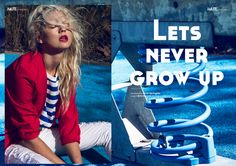 Lets never grow up webitorial for iMute Magazine  Photographer / Kyle Springate Model / Erin Hannah @ Debut Management