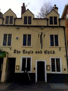 | the Eagle and Child in Oxford - where J.R.R. Tolkien and C.S. Lewis used to throw back a couple beers |
