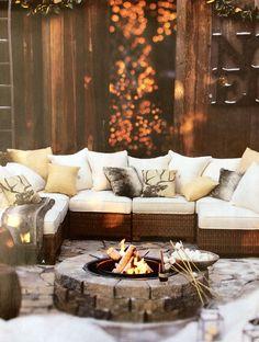 Cozy winter outdoors