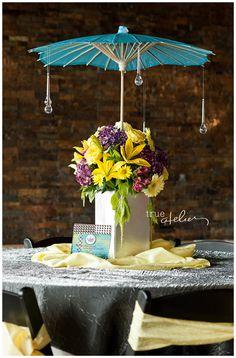 """Dancing in the Rain"" Wedding Theme. True Atelier Photography"