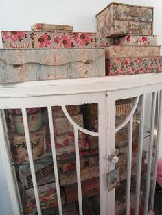 French textile boxes
