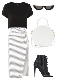 """""""Untitled #11"""" by kj-howe on Polyvore featuring Off-White, Topshop, Mansur Gavriel and PAWAKA"""