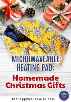 Microwave-Safe Heating Pad: Homemade Christmas Gifts – The Happy Housewife ™ :: … - Diy Sewing Projects Christmas Crafts To Sell, Handmade Christmas Gifts, Christmas Bags, Homemade Christmas, Christmas Ideas, Small Sewing Projects, Sewing Projects For Beginners, Sewing Hacks, Sewing Tutorials