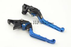 44.55$ Buy now - http://alintb.worldwells.pw/go.php?t=2036592856 - Free shipping Motorcycle brake clutch levers For Suzuki GSX-R600 GSXR750 2004-2005 k4 Blue color Folding type