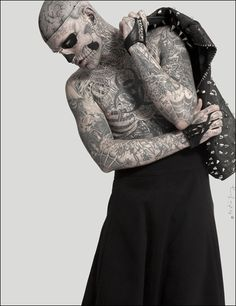 Rick Genest / Rico the Zombie & Sophia Lamar  Photographed by Austin Young  Styled by Bobby Webster & Judson Harmon for ODD
