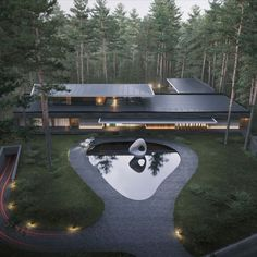 Modern villa is surrounded by a pine forest. Thanks to its shape and laconic facade solutions, it looks like a part of nature. #moscow #russia #amazingarchitecture #modernvilla #architecture #designinspiration #minimalarchitecture #design #moderndesign #modernarchitecture #современнаявилла #архитектура #house #home #realestate #interiordesign #homedecor #luxury #luxuryhomes #furniture #photooftheday #amazing #arquitectura #arquitetura #design #architect #beautiful #russian #معماری