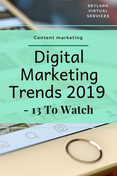 Digital marketing trends 2019 is a glimpse into the future and a collection of tips and trends from the experts about what you might want to try next year. Find a new approach, solidify a practice that is working or makes a small change for a bigger resul Digital Marketing Strategy, Inbound Marketing, Social Marketing, Marketing Na Internet, Digital Marketing Trends, Marketing Online, Small Business Marketing, Facebook Marketing, Marketing Plan