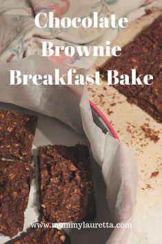 Gluten, dairy & refined sugar free brownie breakfast bars.