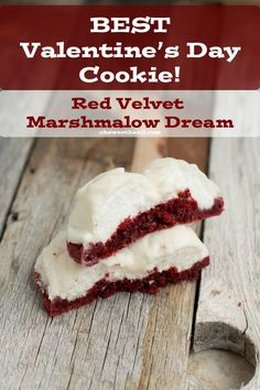 The Best Valentines Day Cookie (and my husbands favorite ever!) Red Velvet marshmallow! ohsweetbasil.com